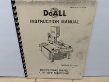 DoAll TF-1421 Band Cut-Off Machine Instruction  Manual