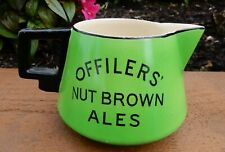 Offilers nut brown ales brewery pub jug. Art Deco TG Green pottery 1930's