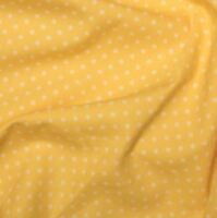 Lemon Yellow 3mm Spotty Polka Dot 100% Cotton Poplin Fabric Sewing Quilting