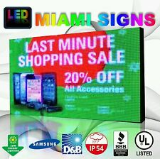 "Full Color Led Sign 25"" x 50"" P10 Outdoor Programmable 10Mm Pitch Led Display Us"