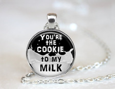Milk and Cookies Necklace Tibet silver pendant chain Necklace