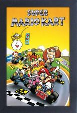 SUPER MARIO KART VIDEO GAME 13x19 FRAMED GELCOAT POSTER NINTENDO CLASSIC!