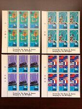 Tokelau Islands 1972 SC #33-36 South Pacific Commission Corner Blocks of 6 VFNH