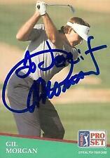 Gil Morgan autographed trading card (Golf) 1991 Pro Set #80