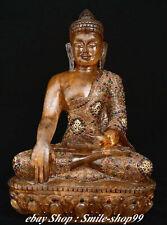 China Natural Crystal Gems Shakyamuni Sakyamuni Amitabha Tathagata Buddha Statue