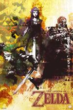 Legend of Zelda Group Spraypaint Nintendo Poster 12x18 Inch
