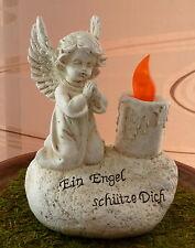 Deko Grab-Engel  mit LED-Kerze  ca. 16 cm  x 11 cm  Neu