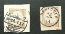 Hungary-2 X 2c Postal Stationary Cut outs