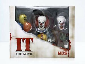 Mezco Toyz Designer Series MDS Deluxe IT 1990 Pennywise Action Figure In Stock