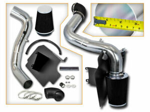 Cold Heat Shield Ait Intake kIt + BLACK Filter For 98-03 S10 PICKUP 2.2L L4