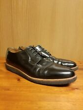 Mens Common Projects Black Derby Shine Shoes Crepe Sole Size US 12 EU 45 -Italy