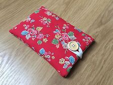 iPad Air / Air 2 Fabric Padded Case - Handmade in Cath Kidston Red Woodland Rose