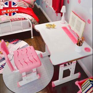 Height Adjustable Tilting Top Kids Child Study Desk Table & Chair Set Bookstand