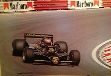 Andretti SU Lotus John Player Special Racing.First Time on Ebay! Rare Car Poster