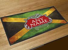 Personalizado Bandera Jamaicana Rojo Y Plata Etiqueta de cerveza Toalla Bar