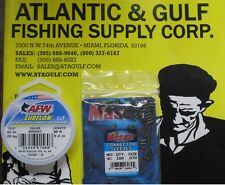 45 LB SURFLON LEADER WIRE + #4 CONNECTOR SLEEVES 100 PK