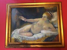 "Original Framed Painting Canvas 29"" X 23"" Natalie Turner Signed Nude Art Women"