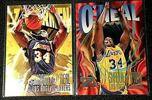 2 CARD LOT SHAQUILLE O'NEAL 1996-97 SKYBOX Z-FORCE #114 &  #187 MINT