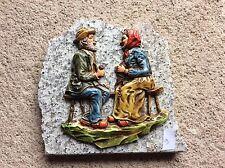 Décoration couple de personnes âgés sur plaque de marbre Vintage (9)