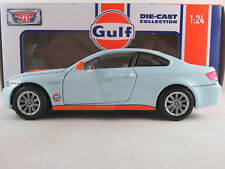 "MOTORMAX 79644 BMW M3 Coupé (2007-2013) ""Gulf"" in hellblau/orange 1:24 NEU/OVP"