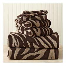 Better Homes and Gardens Zebra Bath Towel Collection Chocolate Brown/Clay Beige