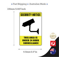 2 x CAMERA SURVEILLANCE ANTI THEFT DECAL STICKER CAR T SHOP SECURITY STICKERS
