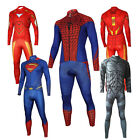 Men Superheros Iron-Man Batman The Avengers long Sleeve Cycling Jersey+Pants New