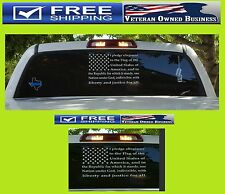 I PLEDGE ALLEGIANCE TO THE FLAG AMERICA DECAL STICKER VINYL WINDOW TRUCK CAR USA
