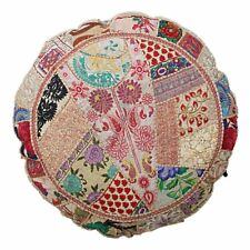 "Indian 18"" Cushion Cover Round Patchwork Floor Pillow Case Vintage Bohemian"