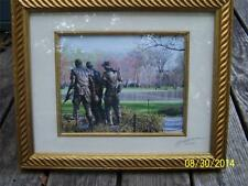 Vietnam Veteran's Memorial Statue picture photo signed numbered 20/250