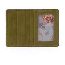HOBO Euro Slide Willow Leather Card Case Olive