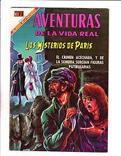 """Aventuras De La Vida Real No 158 -1969 -Spanish -  """"Mysteries Of  Paris Cover! """""""