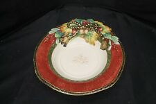 """12"""" Fitz & Floyd Christmas Holiday Solstice Serving Bowl -A2"""