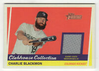 2016 Topps Heritage Clubhouse Collection Relics Charlie Blackmon #CCR-CB!