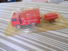 Solido Berliet camiva 4x4 FF pompier incendie secours n°35 + remorque moto pompe