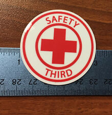 SAFETY THIRD lot of 5 hardhat stickers 2