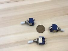3 x Sleeve White latching 6 Pin ON/ON Toggle Switch 6A 125VAC useless box DPDT A