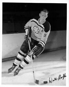 1 - 8 x 10 Photo of Dale Rolfe  - Boston Bruins - Autographed 1959-60
