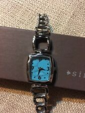 Silpada stainless steel & stabilized turquoise watch - rare - T2128