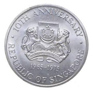 SILVER - WORLD COIN - 1975 Singapore 10 Dollars - World Silver Coin *034