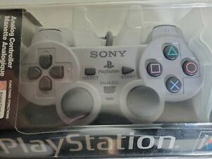 Sony Playstation 1 PS1 Official Gray SCPH-1200 Dual Shock Controller OEM NEW!