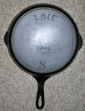 GRISWOLD ERIE SELDON #8 (6TH SERIES) CAST IRON SKILLET # 704G