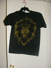 WOW World of Warcraft Lion Alliance Emblem Crest Logo Tee Jinx Blizzard Black XS