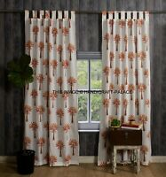 Indian Palm Tree Design Cotton Curtain Window Door Curtains Bedroom Curtain Set