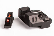 ZEV Technologies Combat V3 Sight Set Glock Optic Front, Black Rear