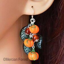 Pumpkin Patch Earrings - Pagan Earrings, Wicca, Witch, Samhain, Halloween, Clay