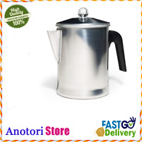 Stovetop Percolator Coffee Pot Maker for Camping Home Kitchen