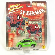 Johnny Lightning Marvel Car Series SpiderMan #1 McFarlane '98 VW Beetle Green