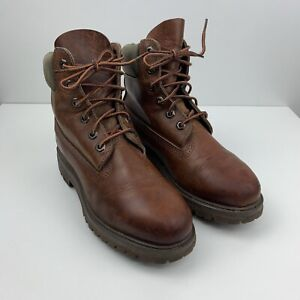 TIMBERLAND LADIES DARK BROWN LEATHER LACED UP BOOTS SIZE UK 3.5 EUR 36