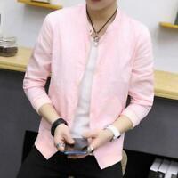 Men's Slim collar fashion jackets Tops Casual coat outerwear Korean style